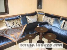 couleur azur assise mousse ou matelas ressort qualit suprieur tissu velours frapp - Salons Moderne En Velours